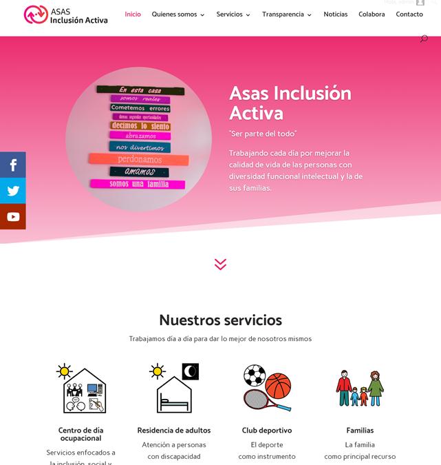 Fundación Ayesa diseña la nueva web de ASAS Inclusión Activa