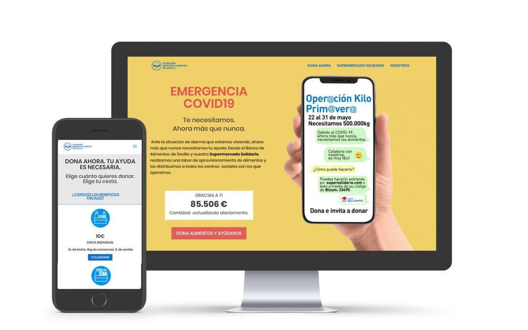 Desarrollamos la nueva plataforma de donación de El Banco de Alimentos de Sevilla