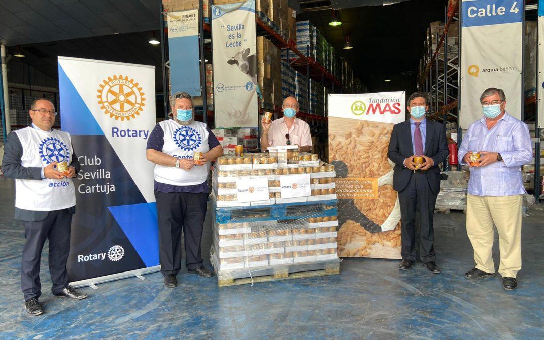 Colaboración con el Club Rotary Sevilla Cartuja para la donación de Alimentos al Banco de Alimentos de Sevilla
