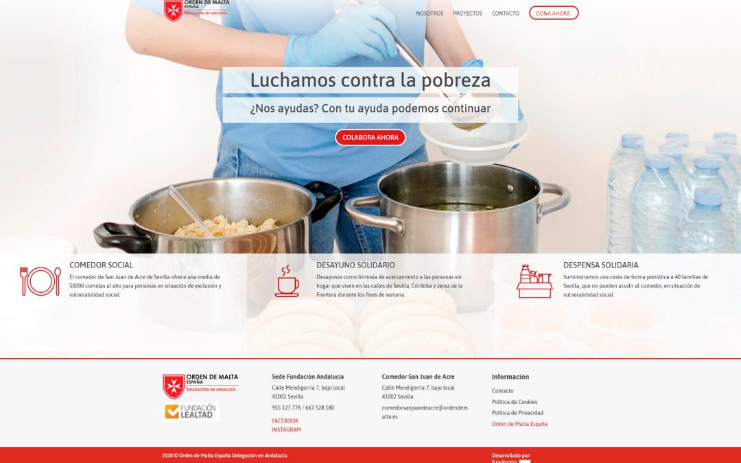 Desarrollamos la nueva plataforma de donaciones para La Orden Malta Delegación en Andalucía