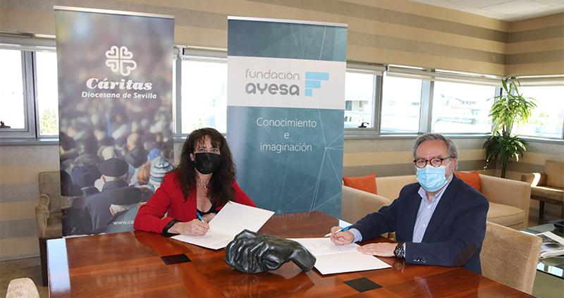 Fundación Ayesa continúa su compromiso social con una donación a Cáritas